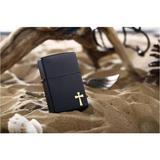 Zippo黑哑漆金十字架